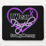 I Wear Purple Heart Ribbon - Mommy Mousepad