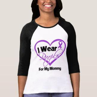I Wear Purple Heart Ribbon - Mommy T Shirts