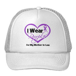 I Wear Purple Heart Ribbon - Mother-in-Law Trucker Hat