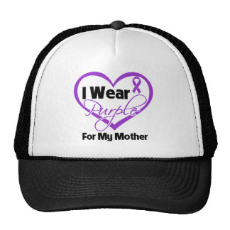 I Wear Purple Heart Ribbon - Mother Trucker Hat