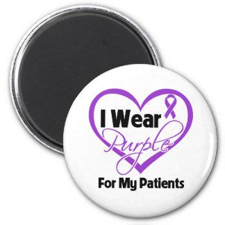I Wear Purple Heart Ribbon - Patients Fridge Magnet