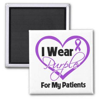 I Wear Purple Heart Ribbon - Patients Fridge Magnets