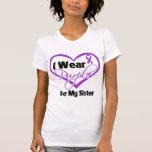 I Wear Purple Heart Ribbon - Sister Tshirt