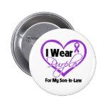 I Wear Purple Heart Ribbon - Son-in-Law Buttons