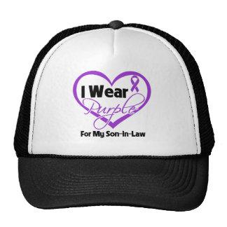I Wear Purple Heart Ribbon - Son-in-Law Trucker Hat