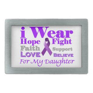 I Wear Purple - My Daughter Has Epilepsy Belt Buckles