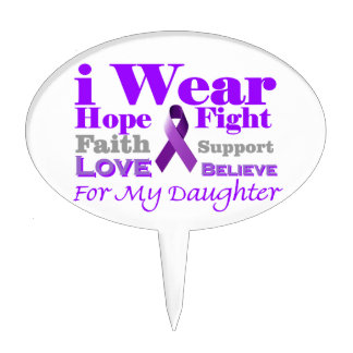 I Wear Purple - My Daughter Has Epilepsy Cake Toppers