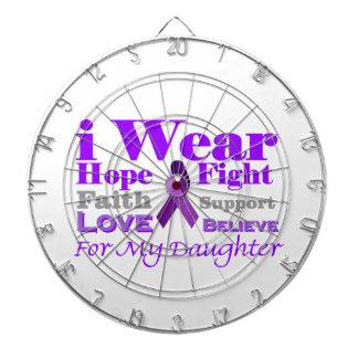 I Wear Purple - My Daughter Has Epilepsy Dart Boards