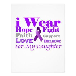 I Wear Purple - My Daughter Has Epilepsy Letterhead
