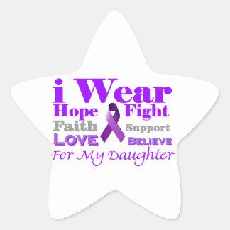 I Wear Purple - My Daughter Has Epilepsy Sticker