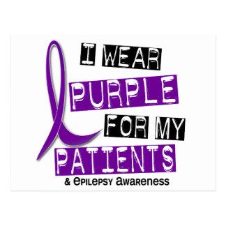 I Wear Purple Patients Epilepsy Postcard