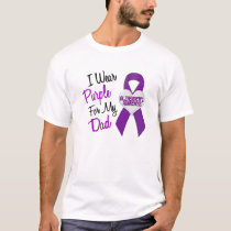 I Wear Purple Ribbon Alzheimer's Disease T-Shirt
