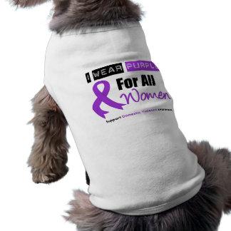 I Wear Purple Ribbon Women Domestic Violence T-Shirt