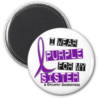 I Wear Purple Sister Epilepsy Magnets