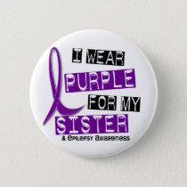 I Wear Purple Sister Epilepsy Pinback Button