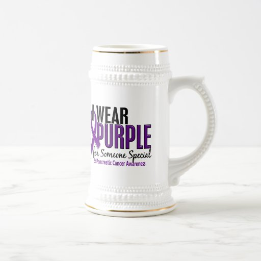 I Wear Purple Someone Special 10 Pancreatic Cancer 18 Oz Beer Stein