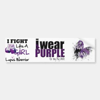 I Wear Purple to Support my Wife Bumper Sticker
