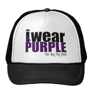 I Wear Purple to Support my Wife Hats