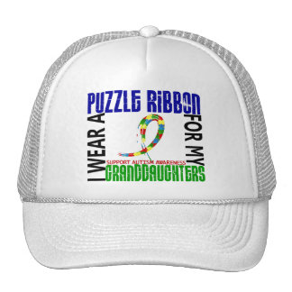I Wear Puzzle Ribbon For Granddaughters 46 Autism Hats
