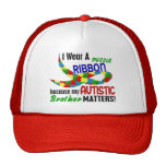 I Wear Puzzle Ribbon For My Brother 33 AUTISM Trucker Hat