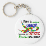 I Wear Puzzle Ribbon For My Brother 33 AUTISM Keychains