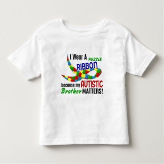 I Wear Puzzle Ribbon For My Brother 33 AUTISM Toddler T-shirt