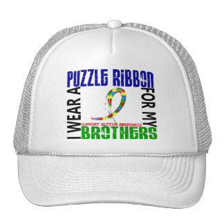 I Wear Puzzle Ribbon For My Brothers 46 Autism Mesh Hat