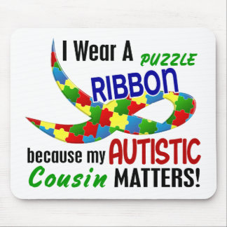 I Wear Puzzle Ribbon For My Cousin 33 AUTISM Mouse Pad