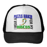 I Wear Puzzle Ribbon For My Nieces 46 Autism Hats