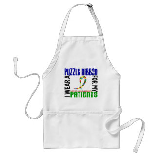I Wear Puzzle Ribbon For My Patients 46 Autism Aprons