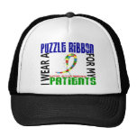I Wear Puzzle Ribbon For My Patients 46 Autism Trucker Hat