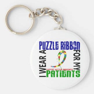 I Wear Puzzle Ribbon For My Patients 46 Autism Key Chains