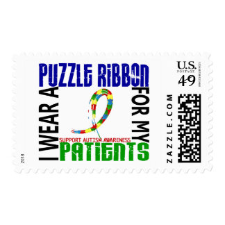 I Wear Puzzle Ribbon For My Patients 46 Autism Postage