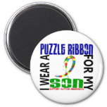 I Wear Puzzle Ribbon For My Son 46 Autism Magnet