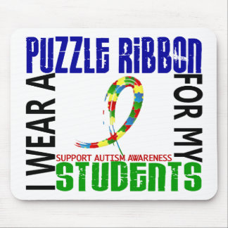 I Wear Puzzle Ribbon For My Students 46 Autism Mouse Pad