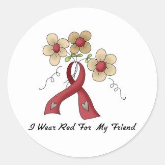 I Wear Red For A Friend Sticker