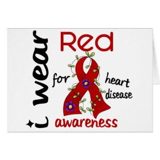 I Wear Red For Awareness 43 Heart Disease Greeting Card