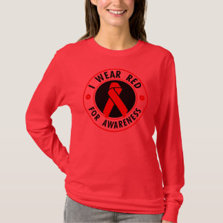 I WEAR RED... For awareness T-Shirt