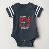 I Wear Red For Blood Cancer Awareness Baby Bodysuit