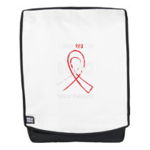 I Wear Red For Blood Cancer Awareness Fighting Backpack