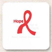 I Wear Red For Blood Cancer Awareness Fighting Beverage Coaster