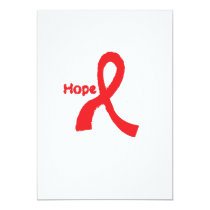 I Wear Red For Blood Cancer Awareness Fighting Card