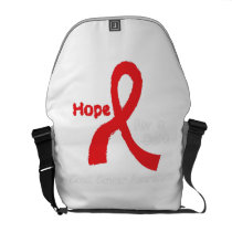 I Wear Red For Blood Cancer Awareness Fighting Courier Bag