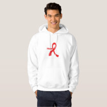 I Wear Red For Blood Cancer Awareness Fighting Hoodie