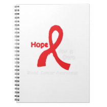 I Wear Red For Blood Cancer Awareness Fighting Notebook
