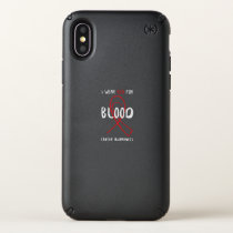 I Wear Red For Blood Cancer Awareness Fighting Speck iPhone X Case
