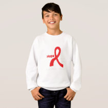I Wear Red For Blood Cancer Awareness Fighting Sweatshirt