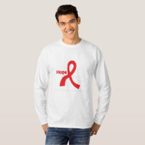 I Wear Red For Blood Cancer Awareness Fighting T-Shirt