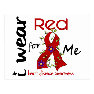 I Wear Red For Me 43 Heart Disease Postcard