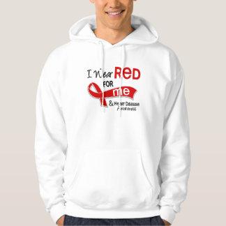 I Wear Red For Me Heart Disease Hoodie